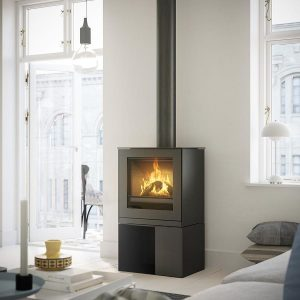 Rais Q-Tee 2 Gas Fire with Log Store Base