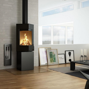Rais Q-Be Wood Burning Stove Black