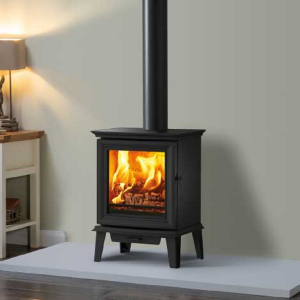 Matt Black Chesterfield 5 Wood Burning and Multi Fuel Stove
